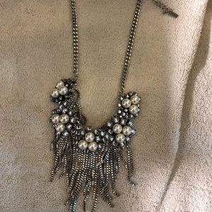 Brand new statement necklace with pearl earrings